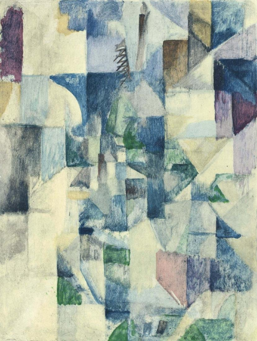 "Robert Delaunay ""La fenetre No. 2"" color pochoir"
