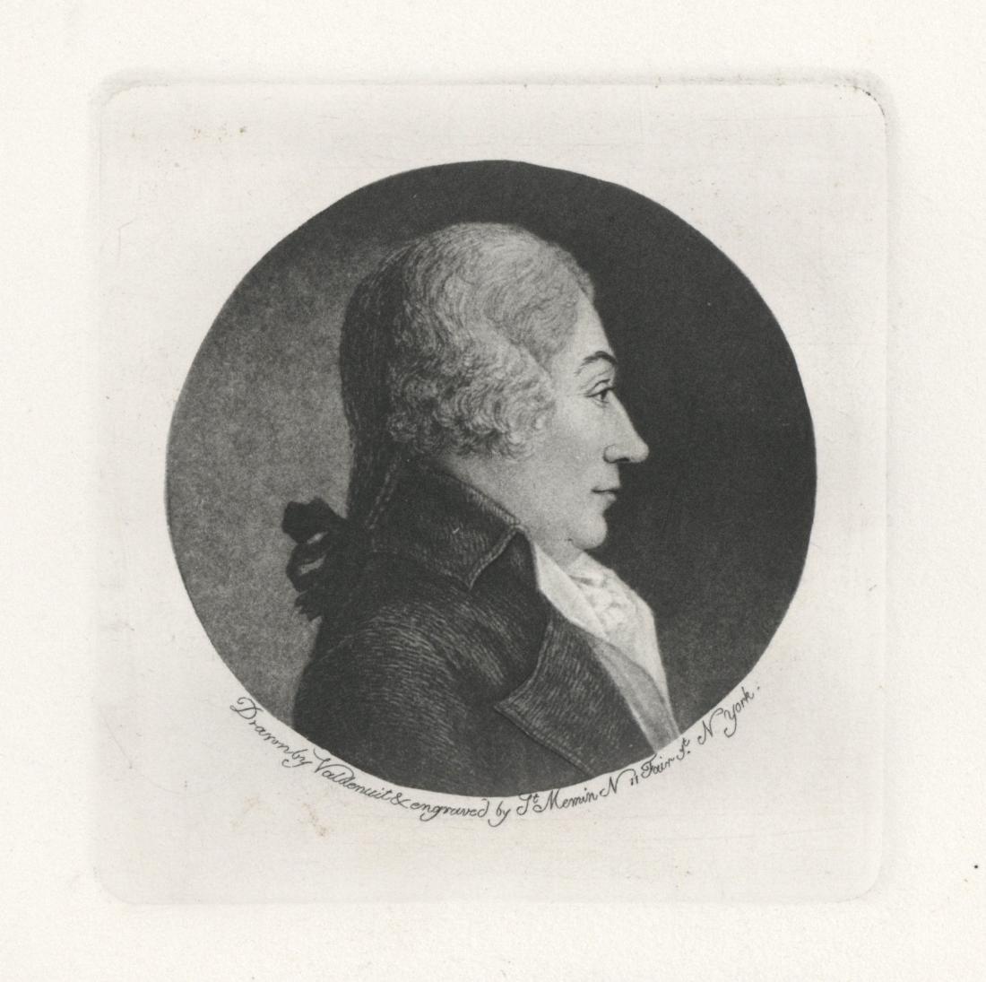 "Charles Saint-Memin engraving ""Joseph Parker"" 1799"
