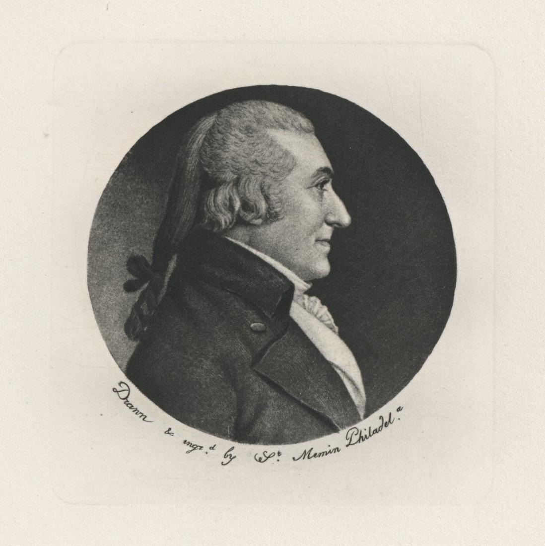 "Charles Saint-Memin engraving ""William Edward"" 1802"