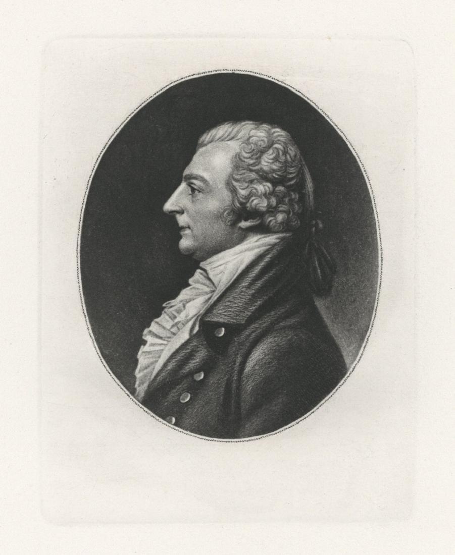 "Charles Saint-Memin engraving ""Doctor Thornton"" 1804"