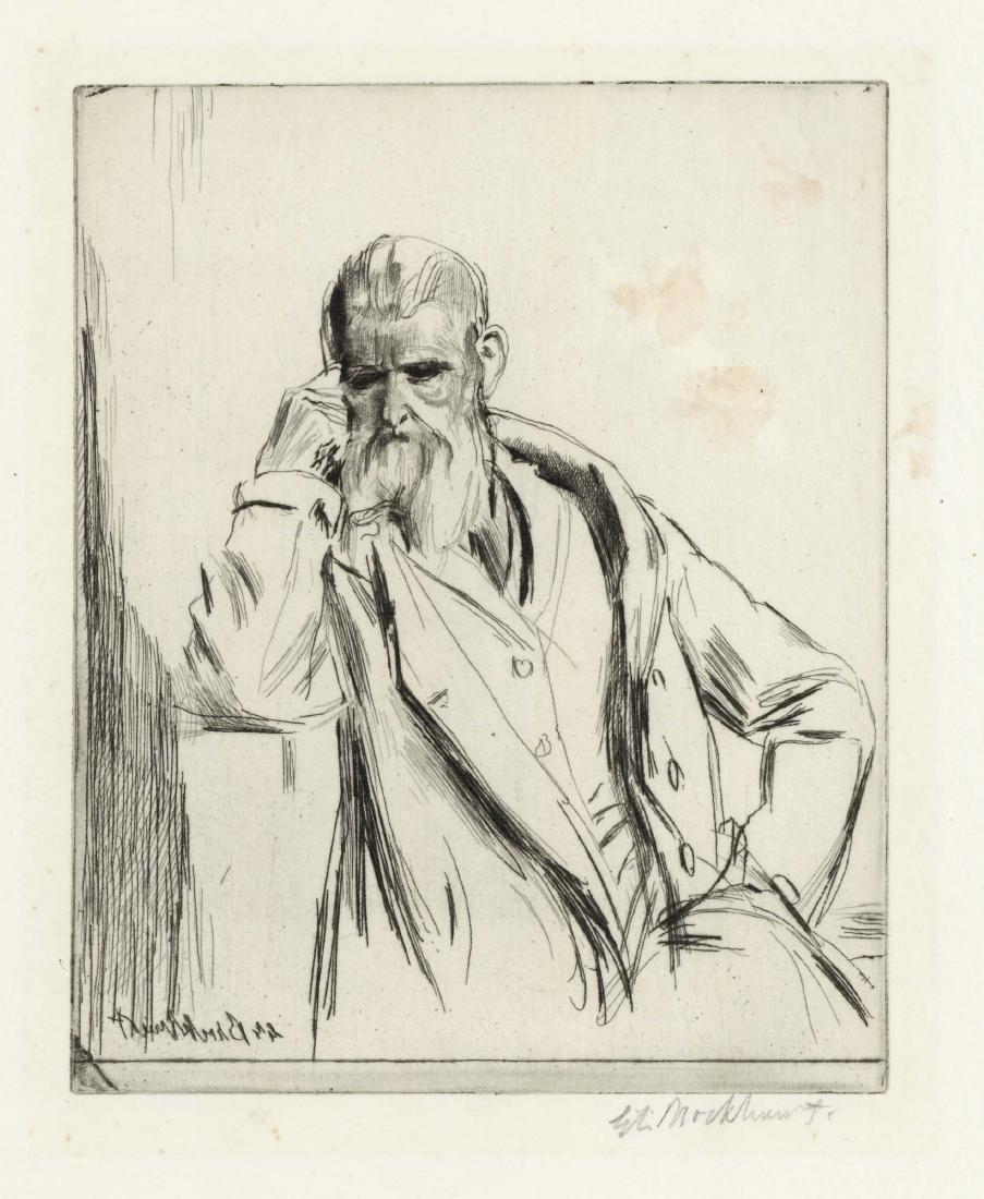 "Gerald Brockhurst signed etching ""Marquett"""