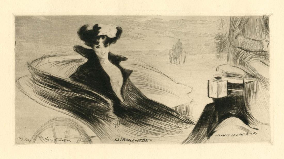 "Edgar Chahine original etching and aquatint ""La"