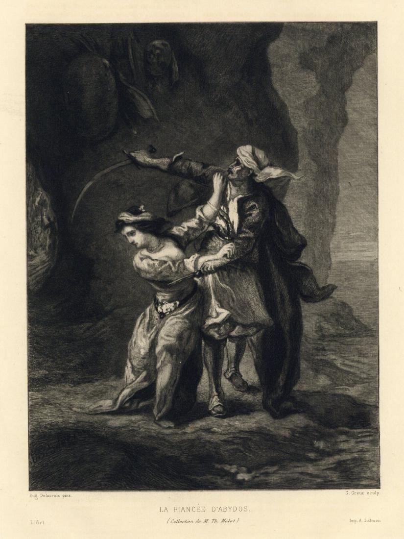 "Eugene Delacroix etching ""La Fiancee d'Abydos"""