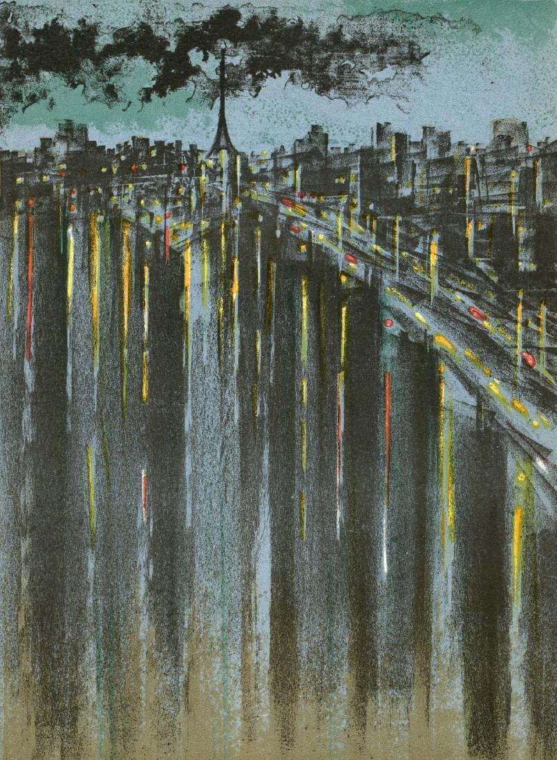 "Richard Florsheim original lithograph ""La Seine a"