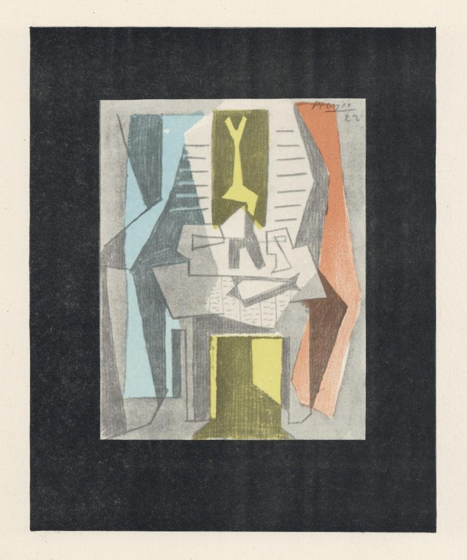 """Pablo Picasso """"Table before Window"""" lithograph pochoir"""