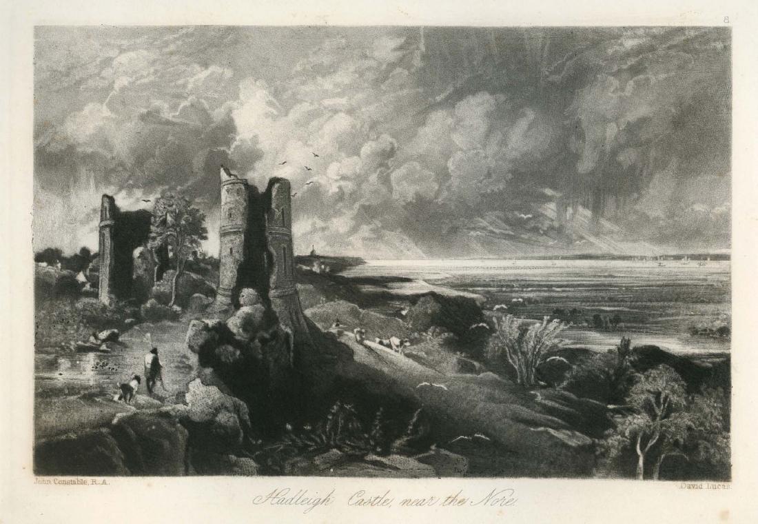 """Sir John Constable / David Lucas mezzotint """"Hadleigh"""