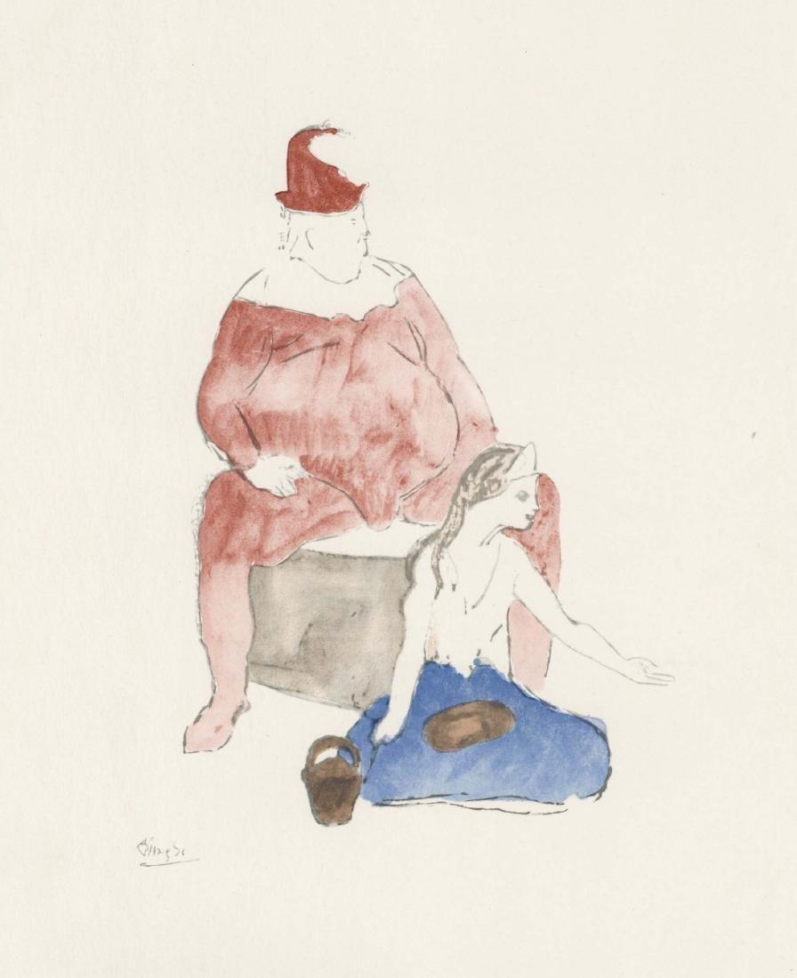 """Pablo Picasso """"Saltimbanque"""" lithograph pochoir"""