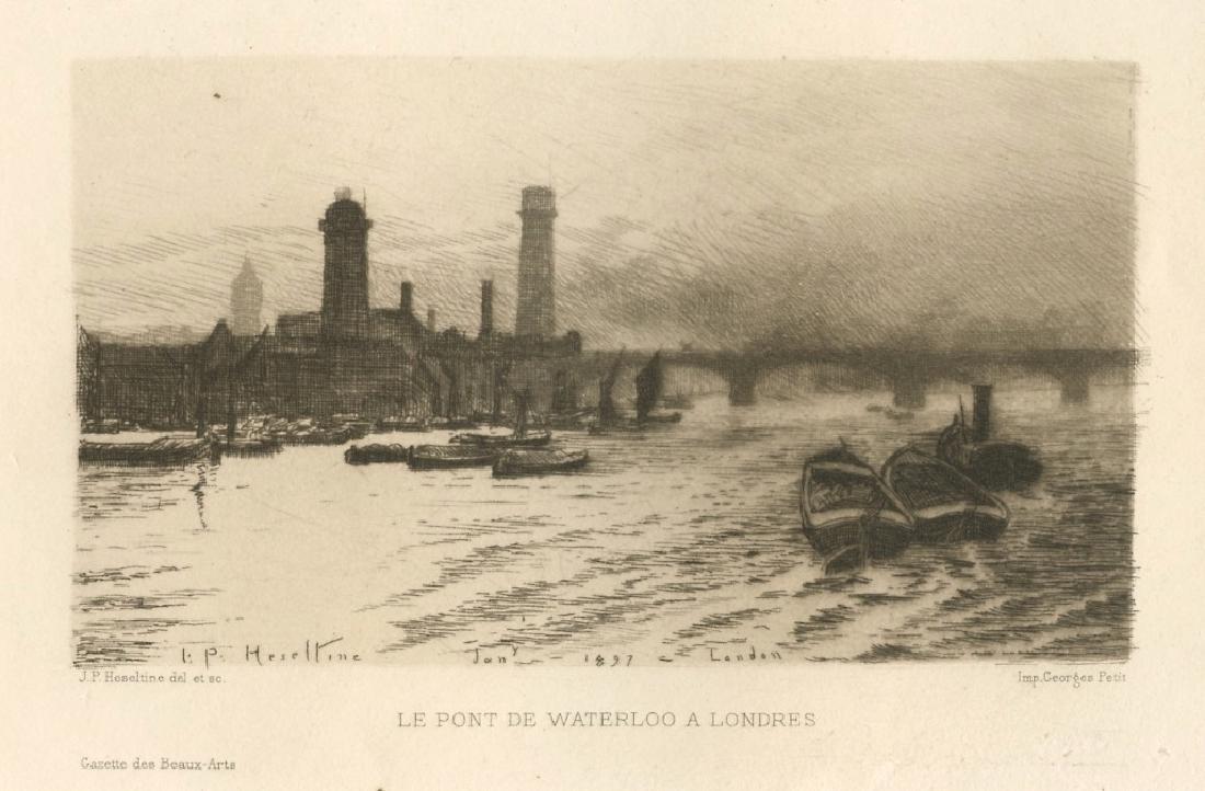 "John Postle Heseltine original etching ""Le pont de"