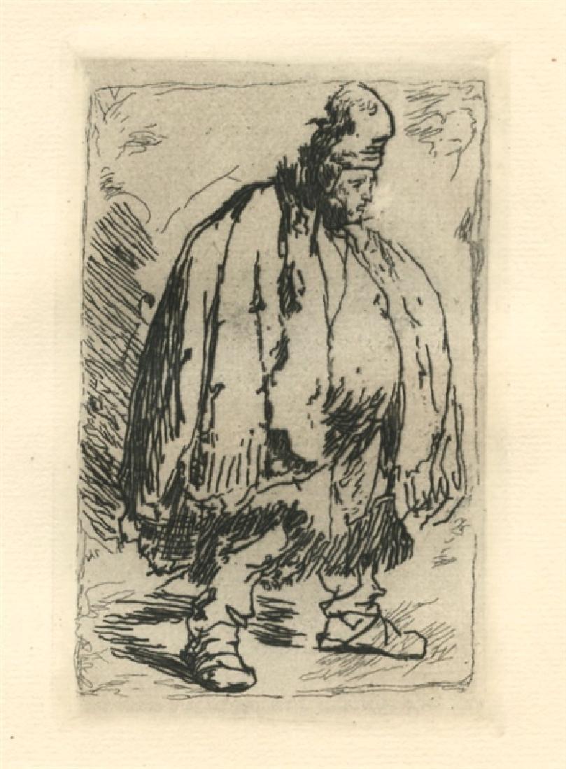 "Rembrandt van Rijn (after) ""A Stout Man in a large"