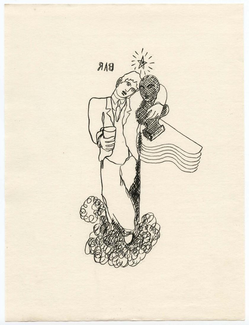 Jean Cocteau copper plate engraving