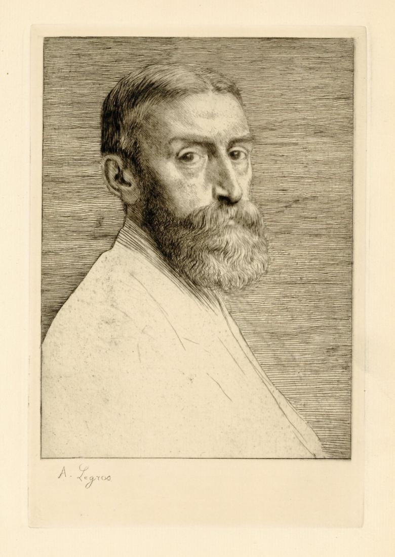 "Alphonse Legros original etching ""Sir Edward Poynter"""