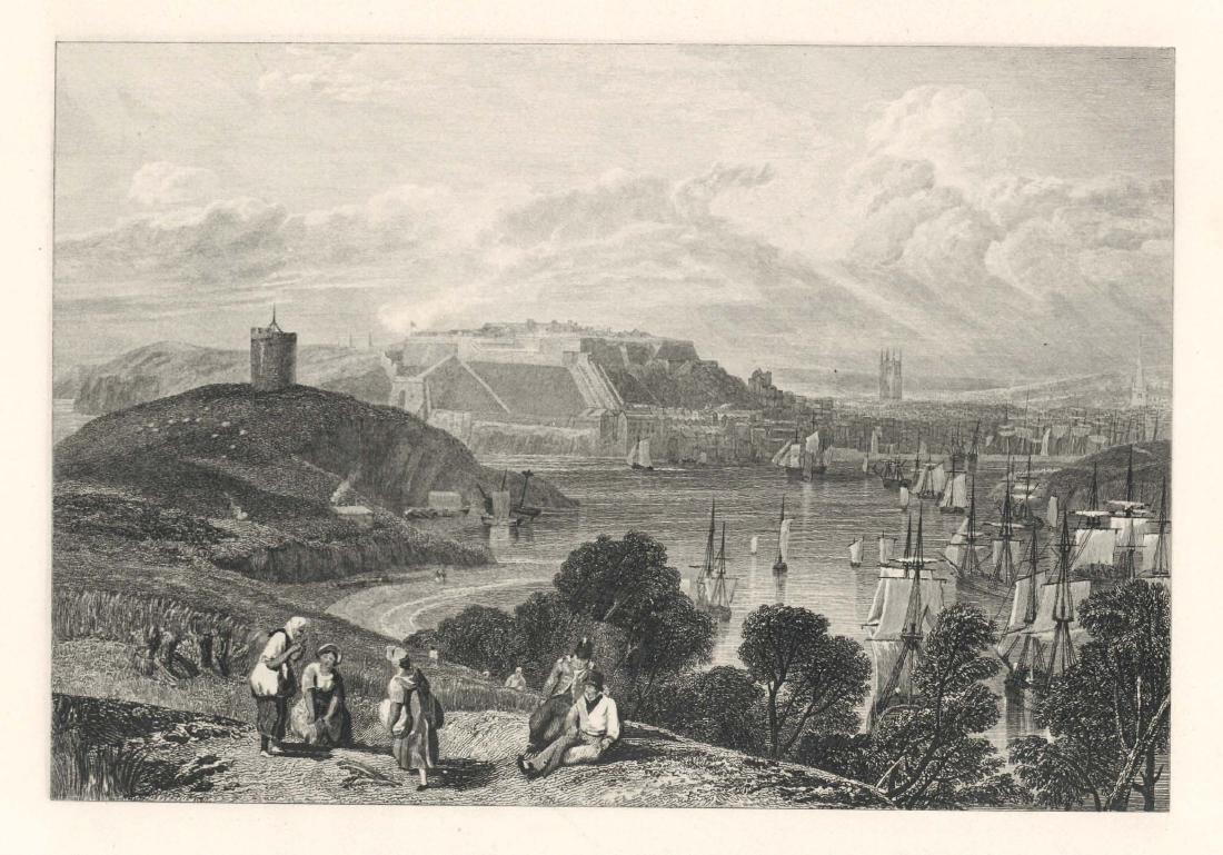 "J. M. W. Turner ""Plymouth"" engraving"