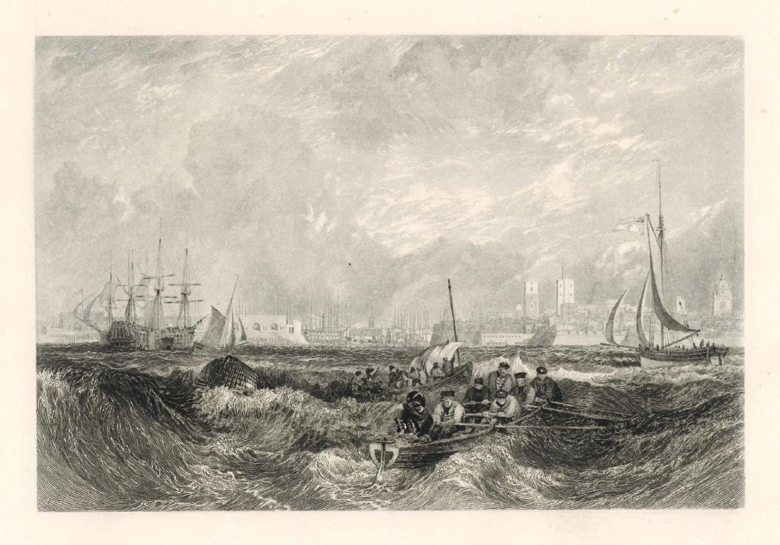 "J. M. W. Turner ""Portsmouth"" engraving"