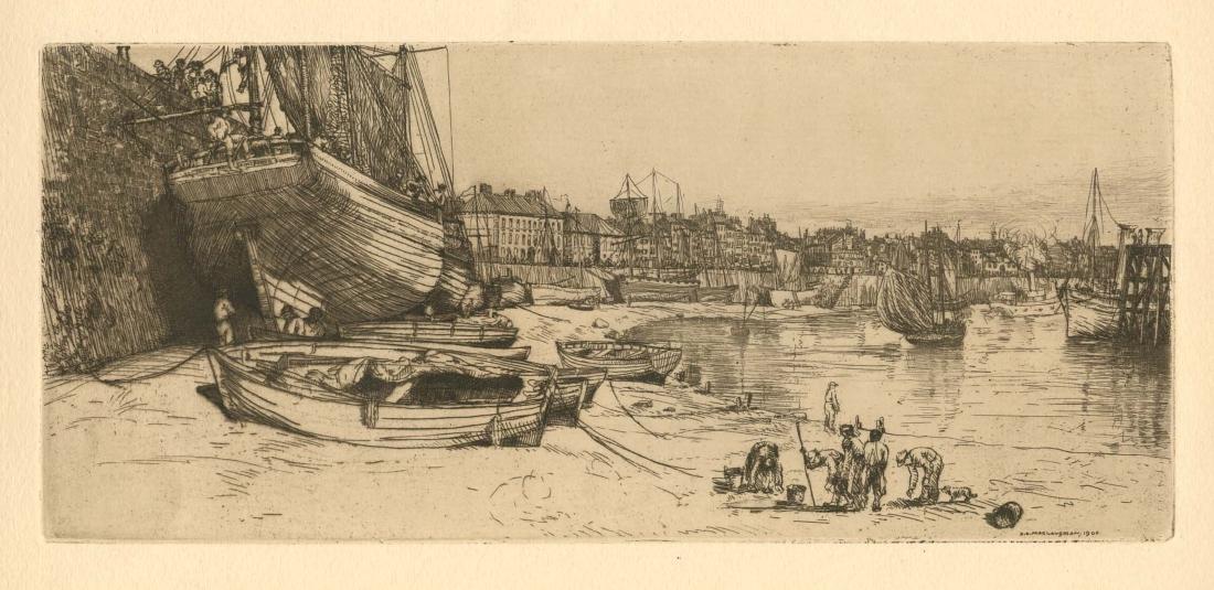 Donald Shaw MacLaughlan original etching | Boat