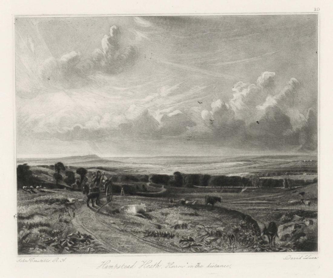 "Sir John Constable / David Lucas mezzotint ""Hampstead"