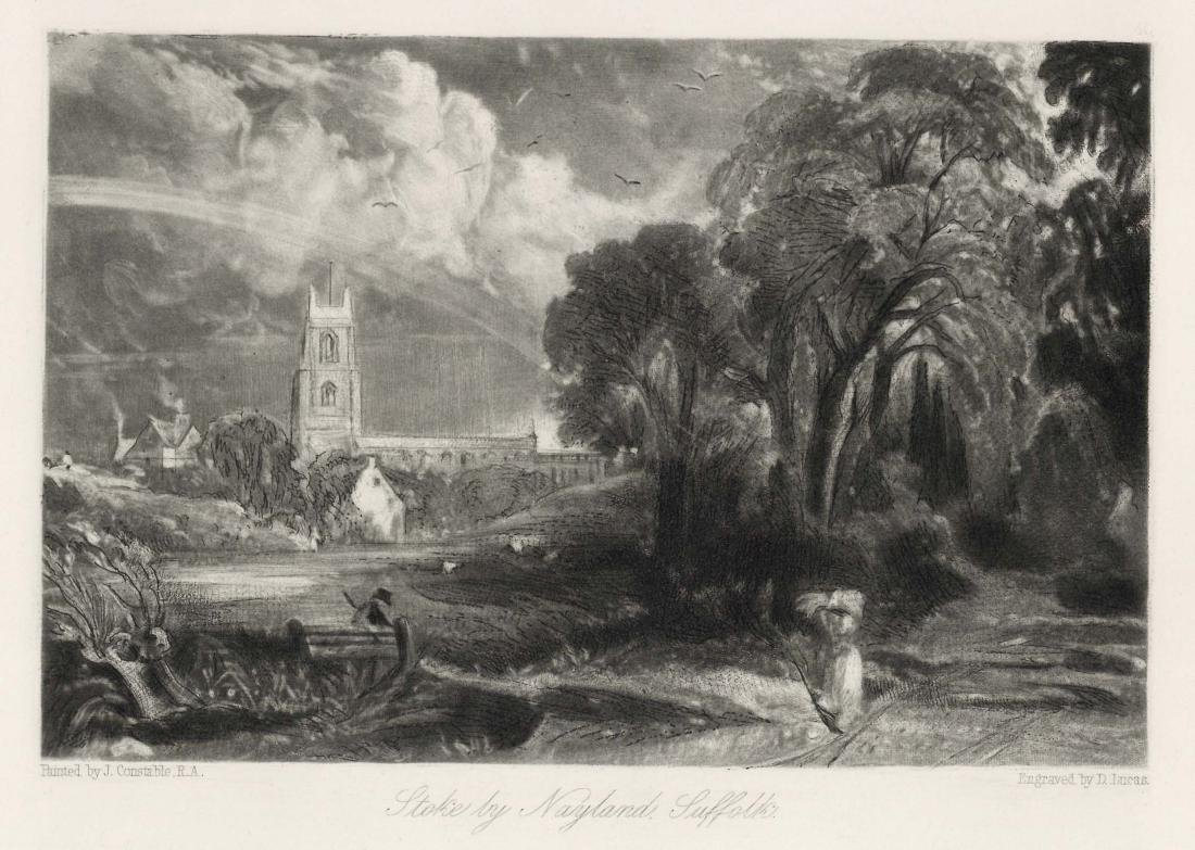 "Sir John Constable / David Lucas mezzotint ""Stoke by"