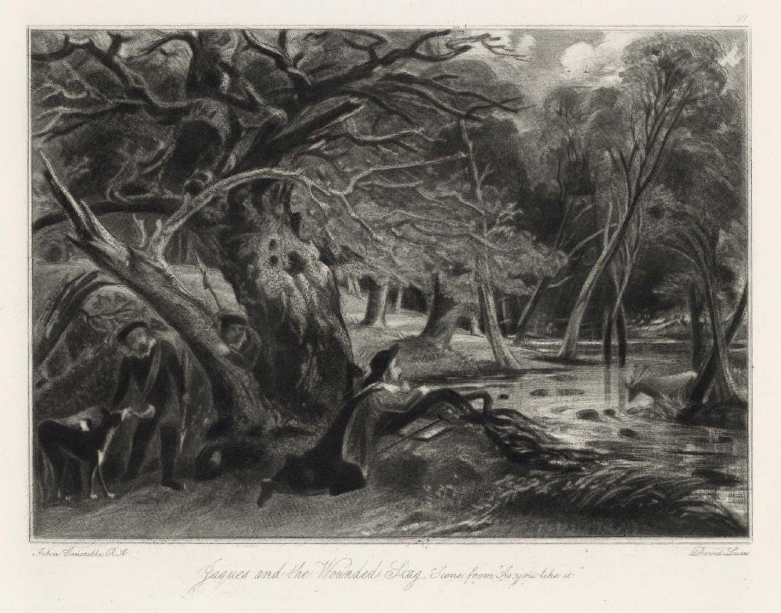 """Sir John Constable / David Lucas mezzotint """"Jacques and"""