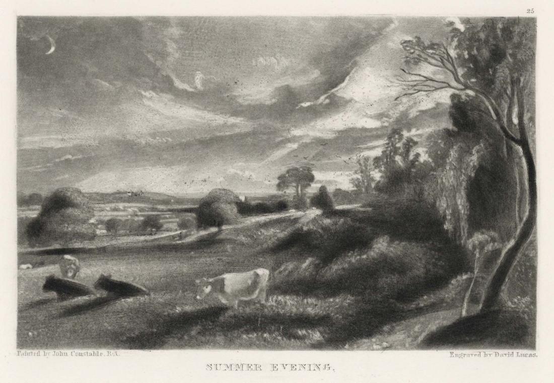 "Sir John Constable / David Lucas mezzotint ""Summer"