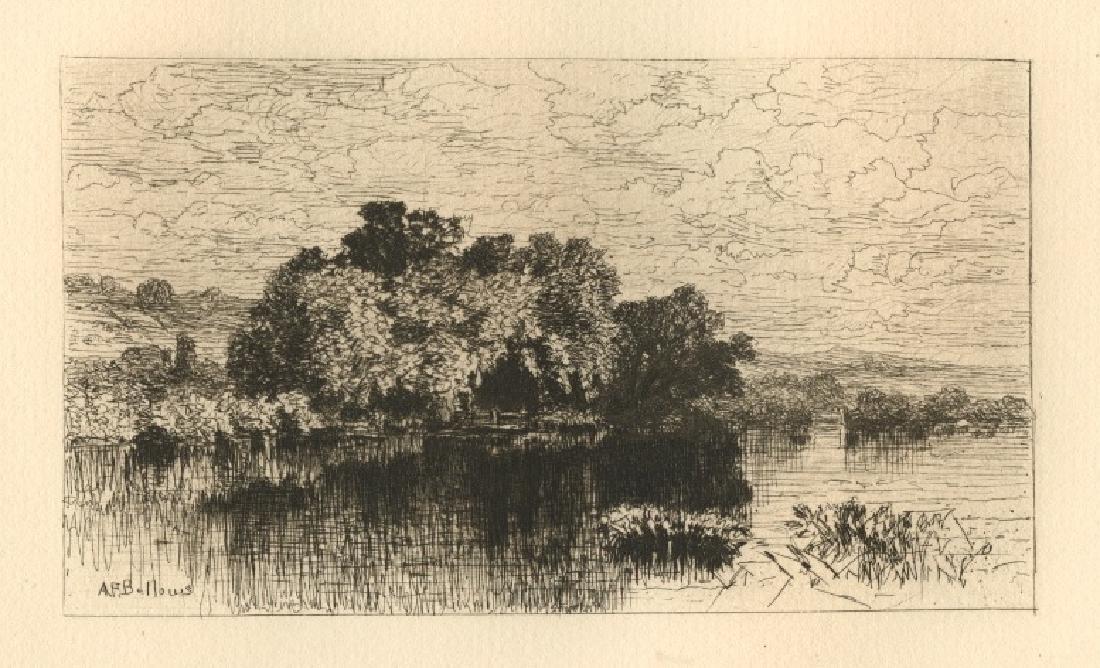 "Albert Fitch Bellows original etching ""Mill Pond At"