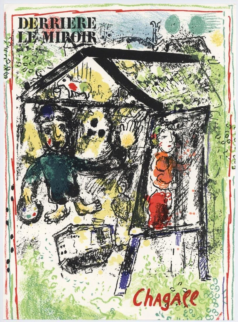 """Marc Chagall """"Le peintre devant le village"""" original"""