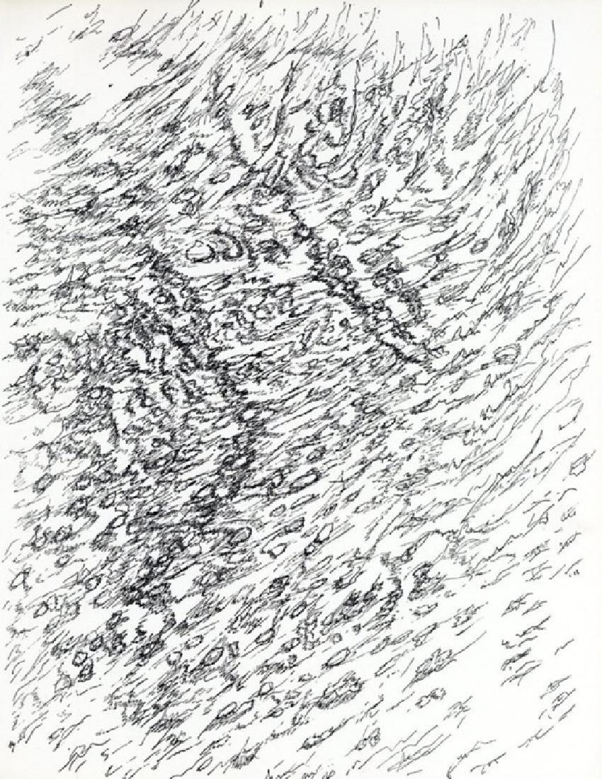 Henri Michaux engraving for XXe Siecle, 1956