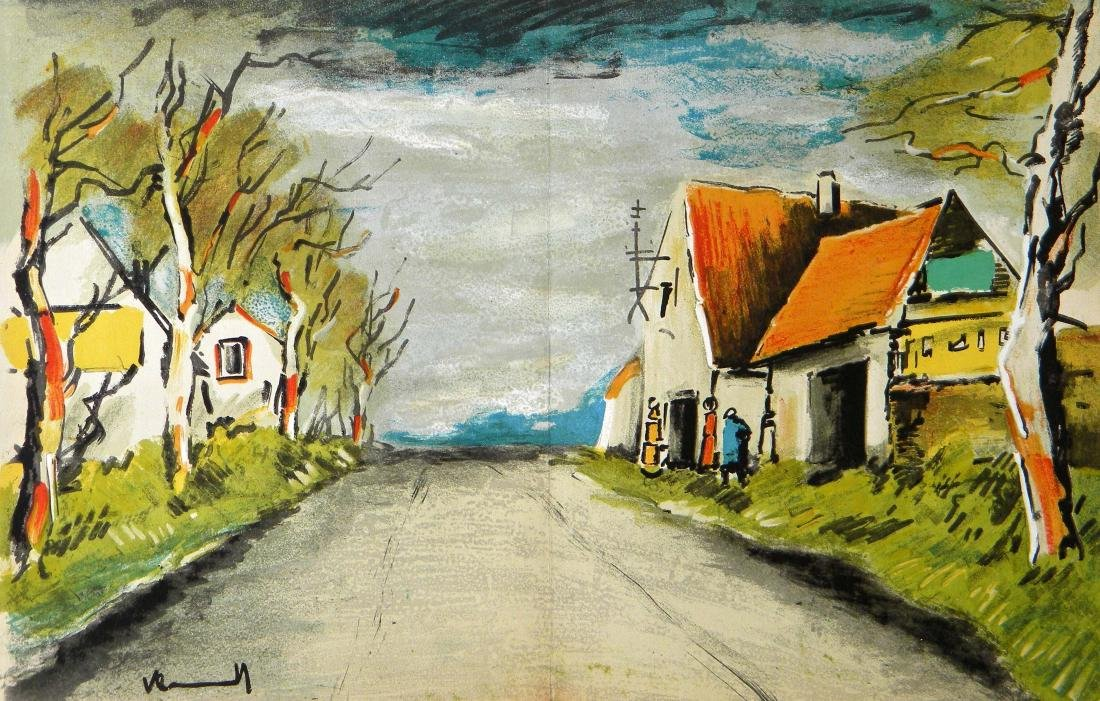"""Maurice de Vlaminck """"The Road"""" original lithograph"""