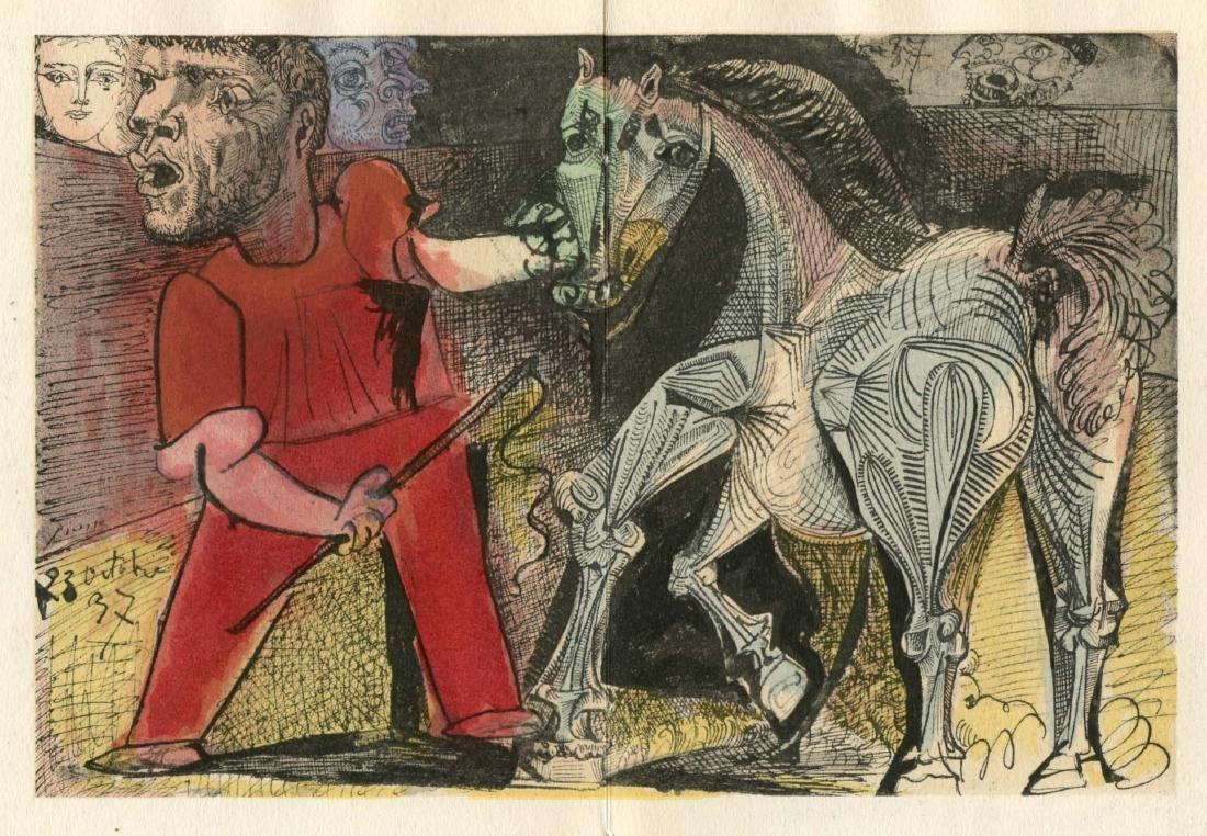 "Pablo Picasso pochoir ""Le cheval de cirque"""