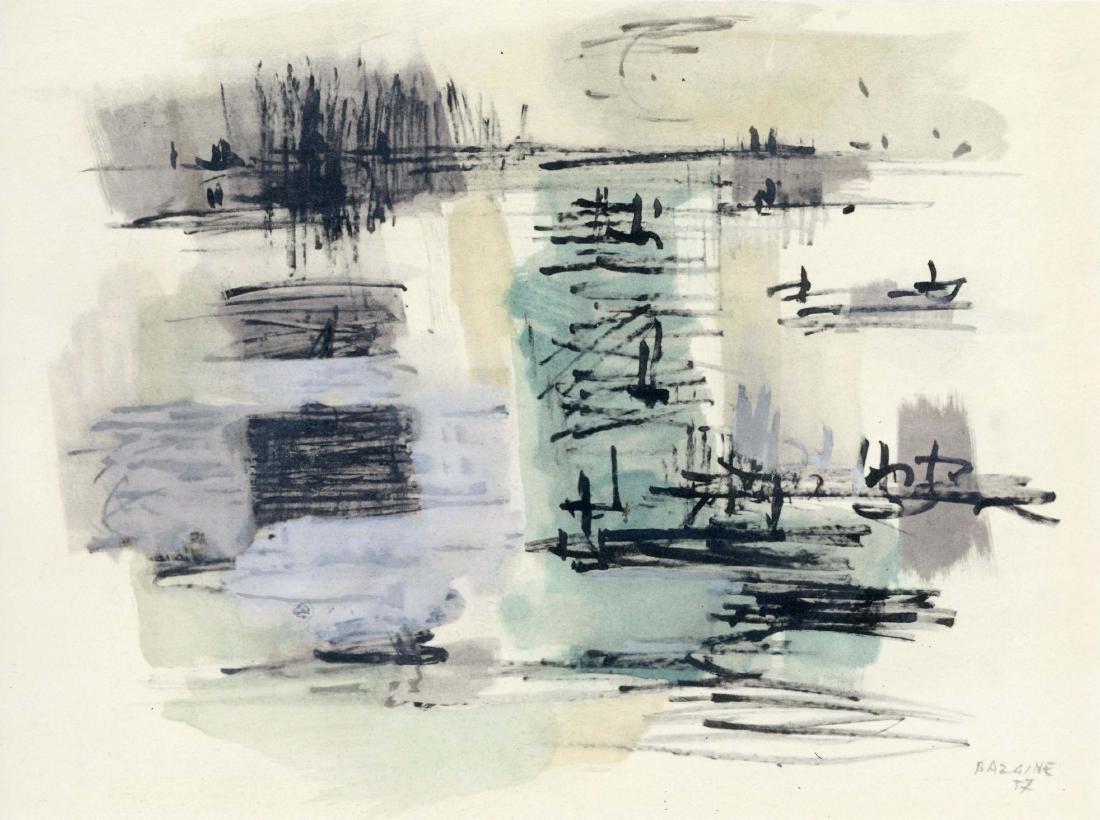 Jean Bazaine pochoir, 1958