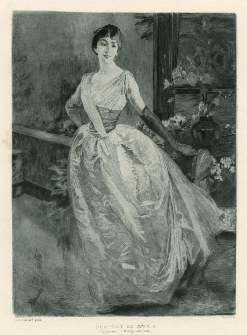 """Albert Besnard etching """"Portrait de Mme R. J."""""""