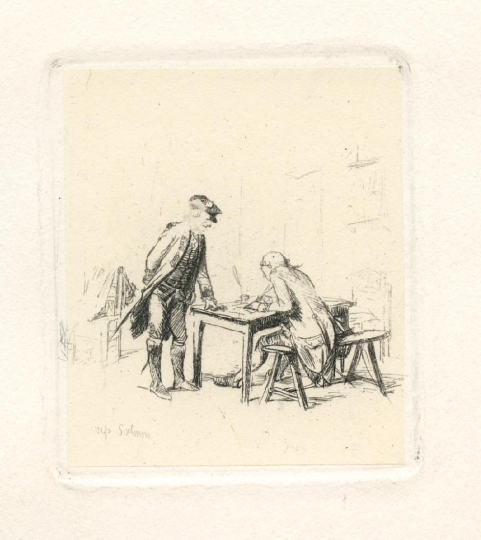 """Jean-Louis Meissonier original etching """"Le Sergent"""