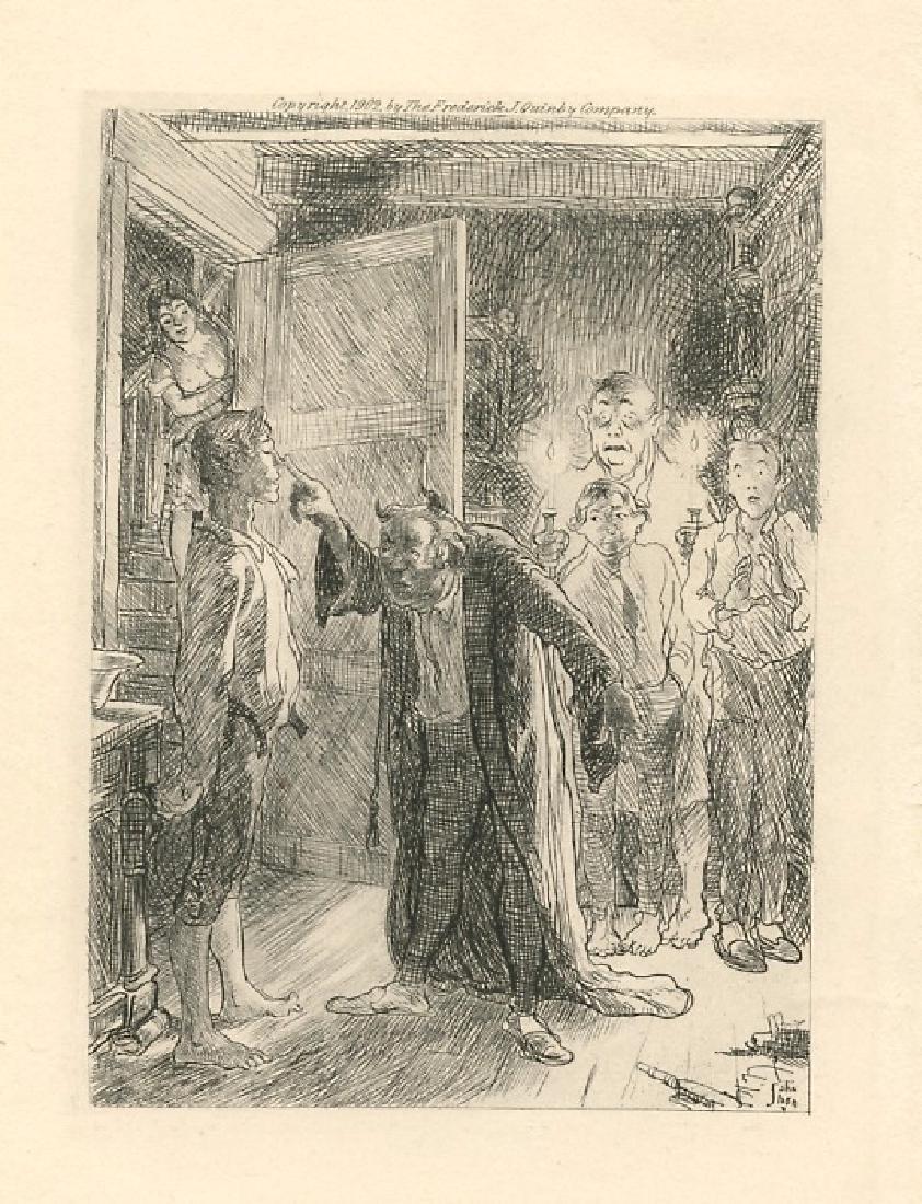 John Sloan original etching