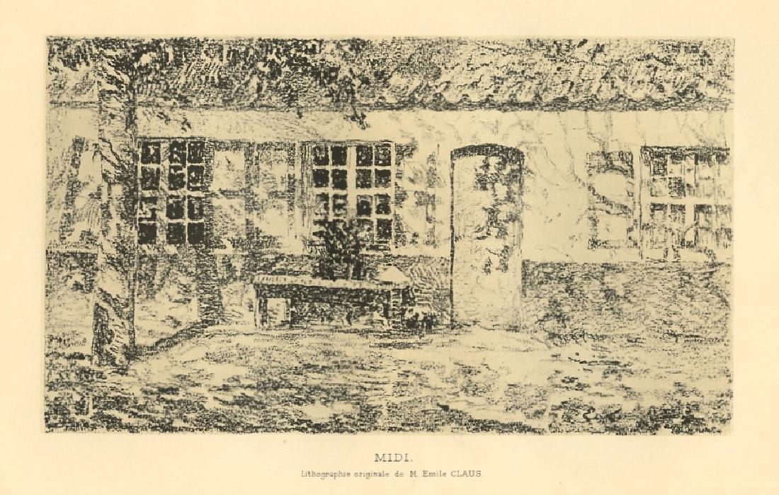 "Emile Claus original lithograph ""Midi"""