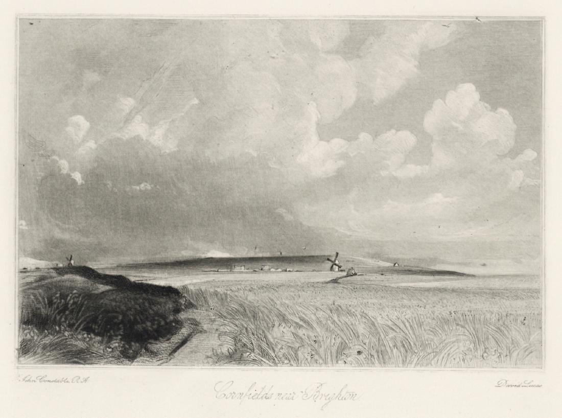 "Sir John Constable / David Lucas mezzotint ""Cornfields"