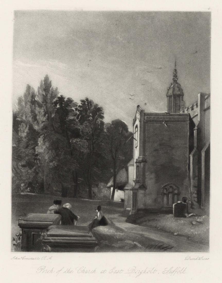 "Sir John Constable / David Lucas mezzotint ""Church at"