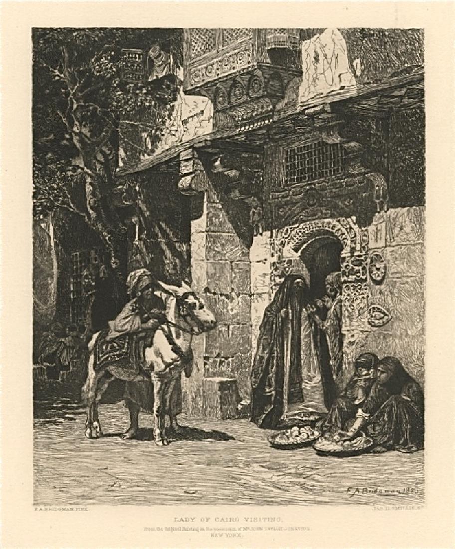 "James Smillie | Frederick Bridgman etching ""Lady of"