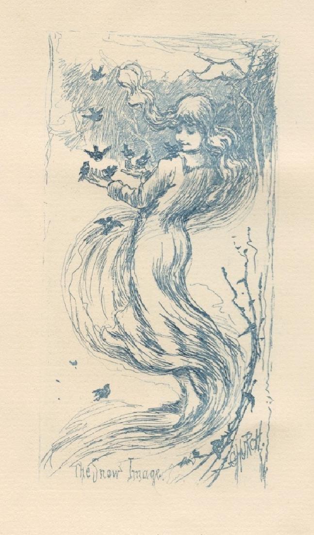 "Frederick Stuart Church original etching ""Snow Image"""
