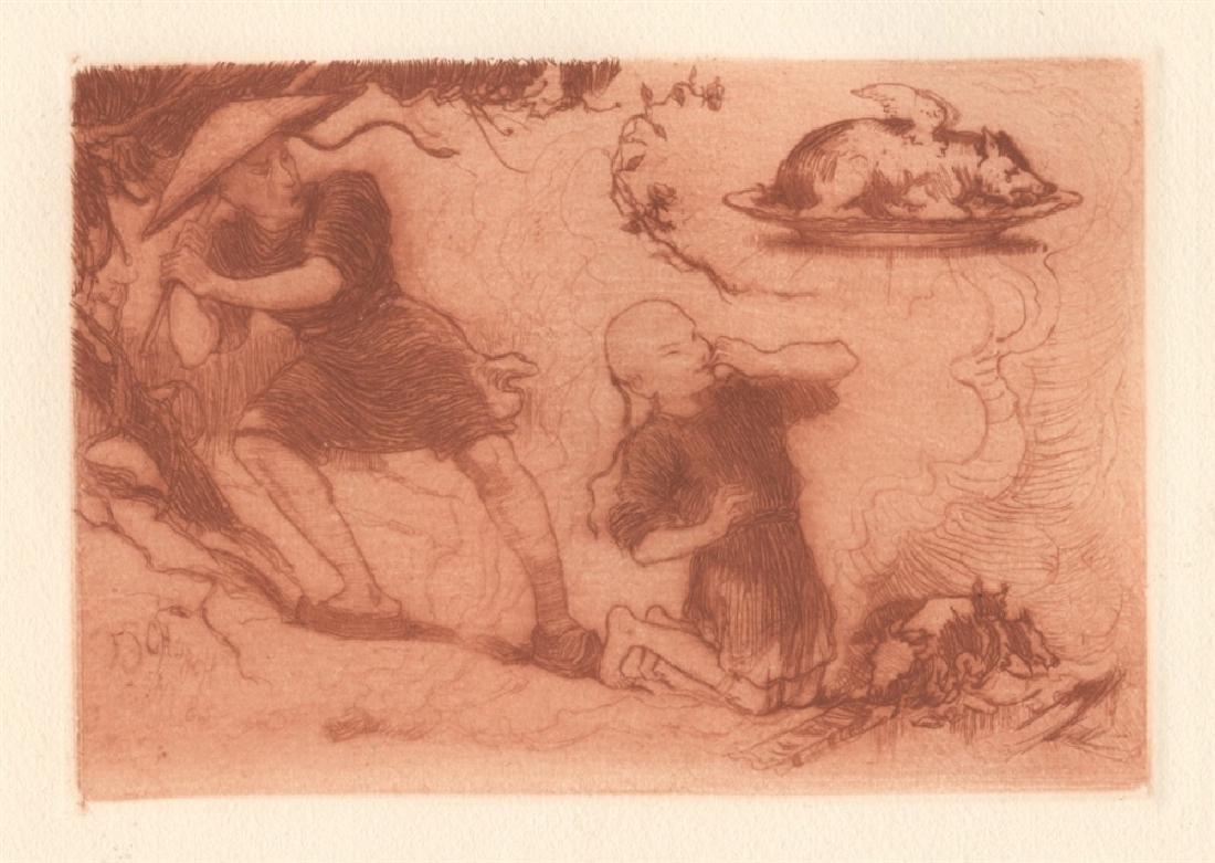 """Frederick Stuart Church original etching """"A"""