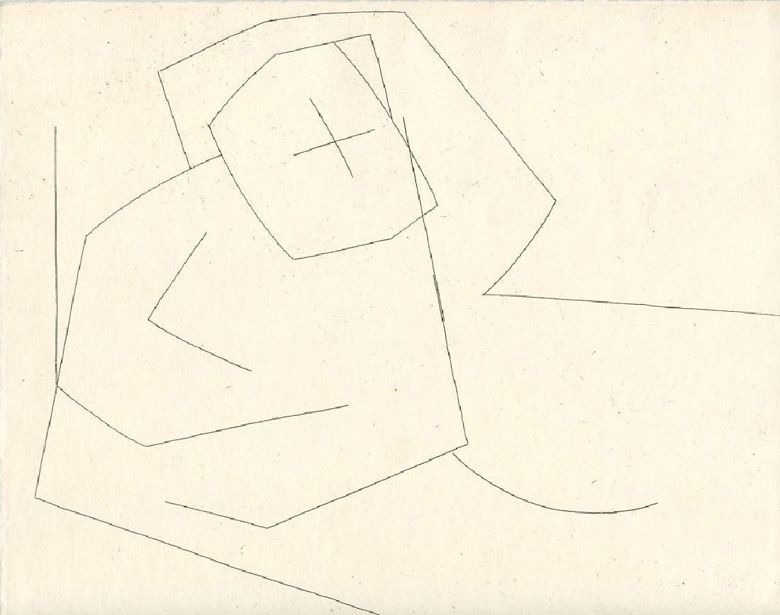 "Andre Beaudin original etching ""Les Paysans"""