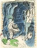 "Marc Chagall lithograph ""La Pirouette bleu"""