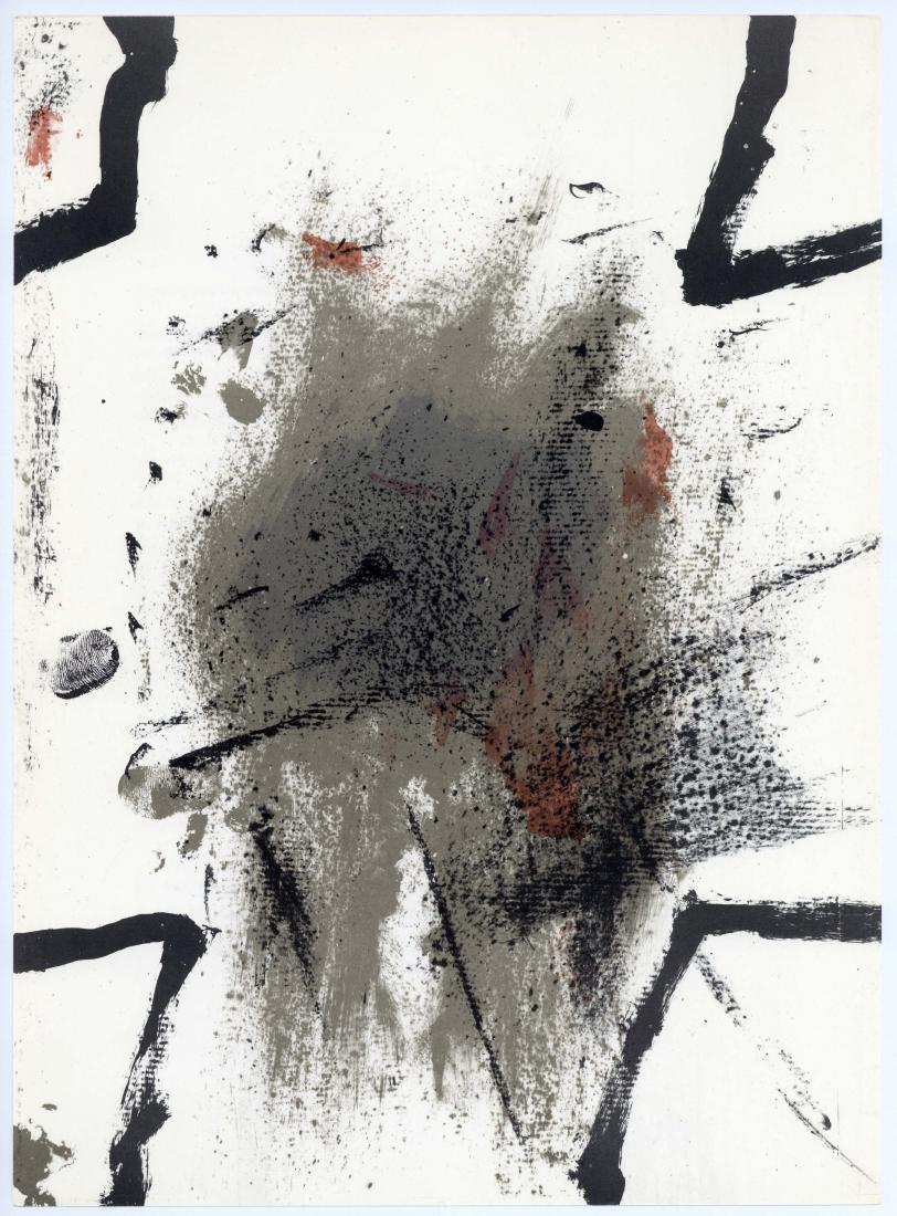 Antoni Tapies original lithograph, 1968