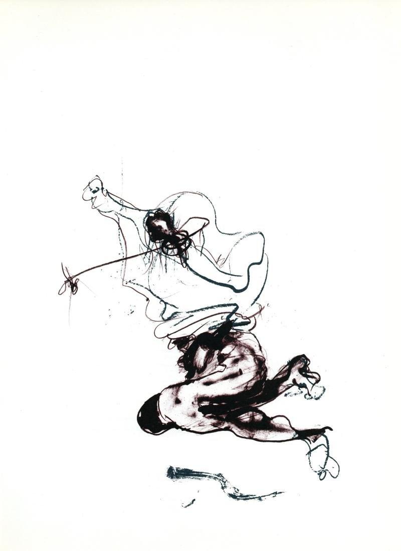 Paul Rebeyrolle original lithograph, 1982
