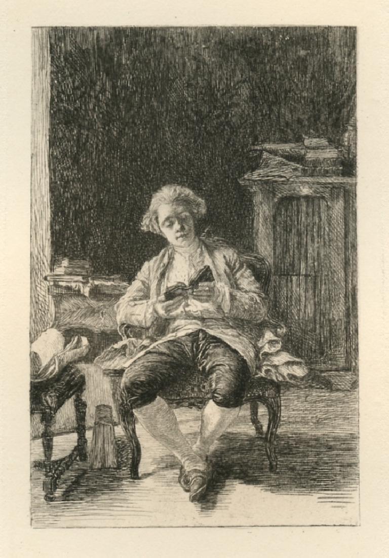 "Jean-Louis Meissonier etching ""Jeune Homme"""