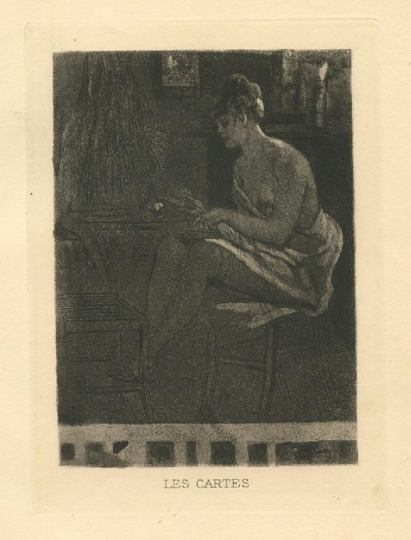 "Felicien Rops engraving ""Les Cartes"""