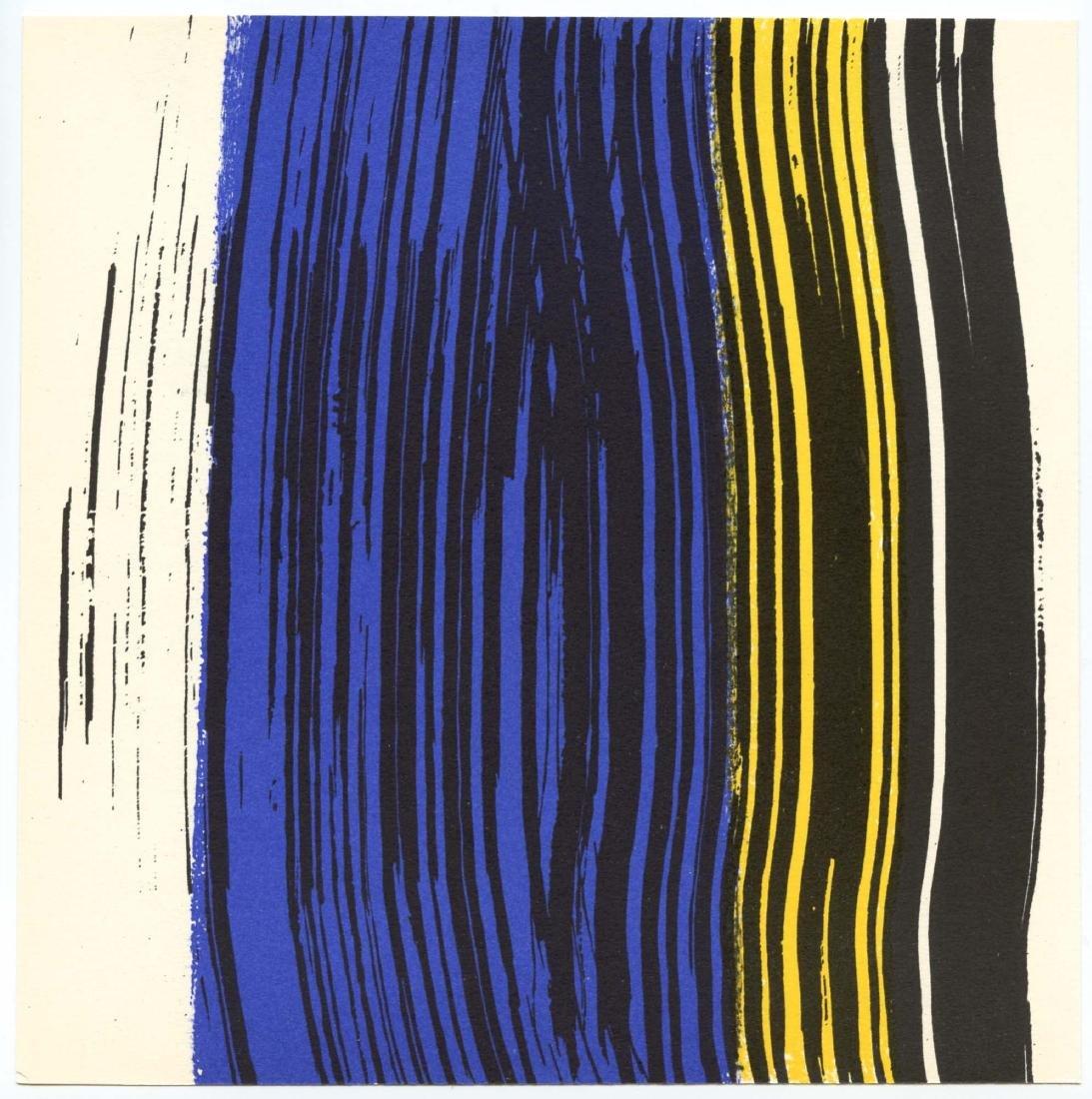 Hans Hartung lithograph, 1971