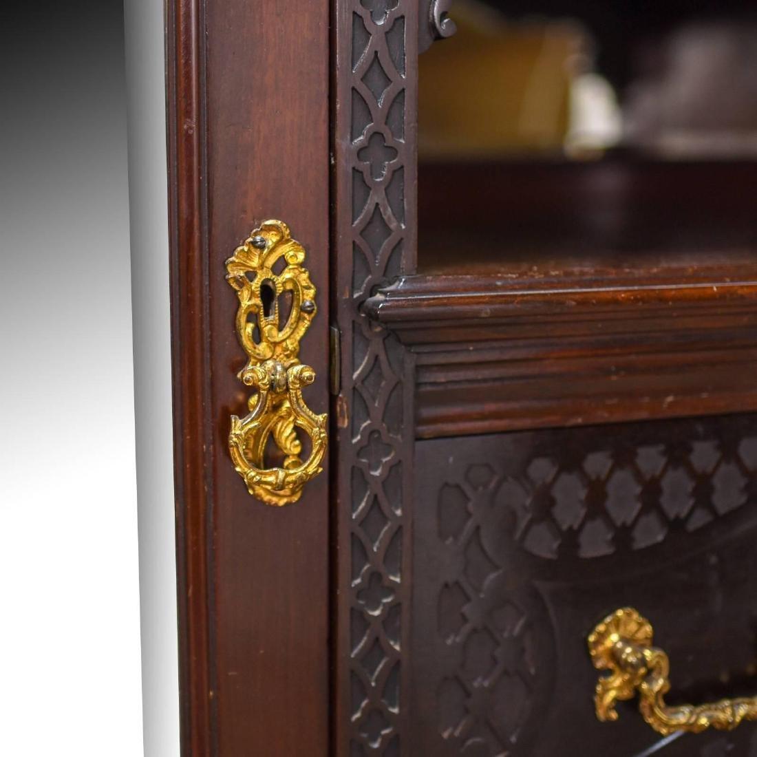 Antique Wardrobe, Carved Mahogany, English, Compactum, - 4