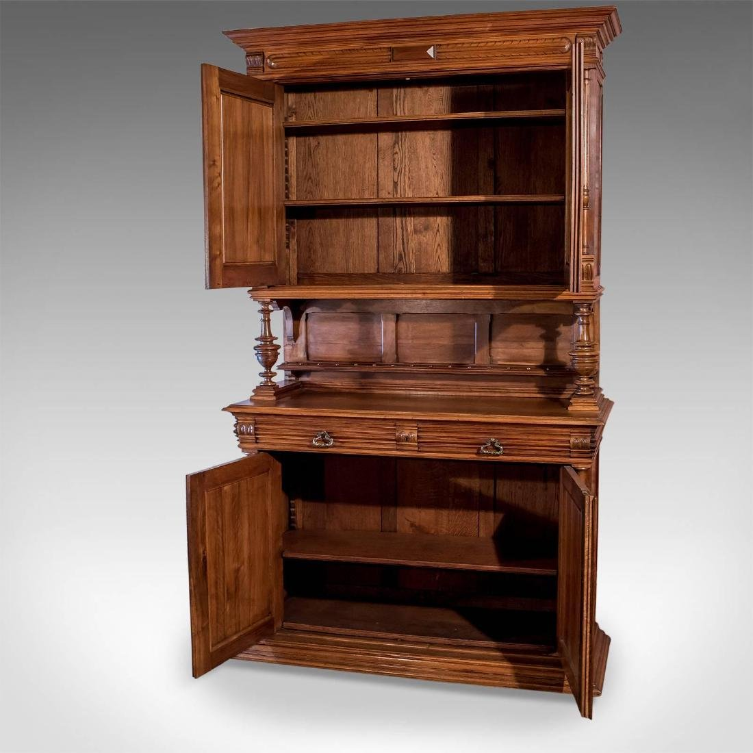 French Antique Show Cabinet, Victorian Cupboard, circa - 3
