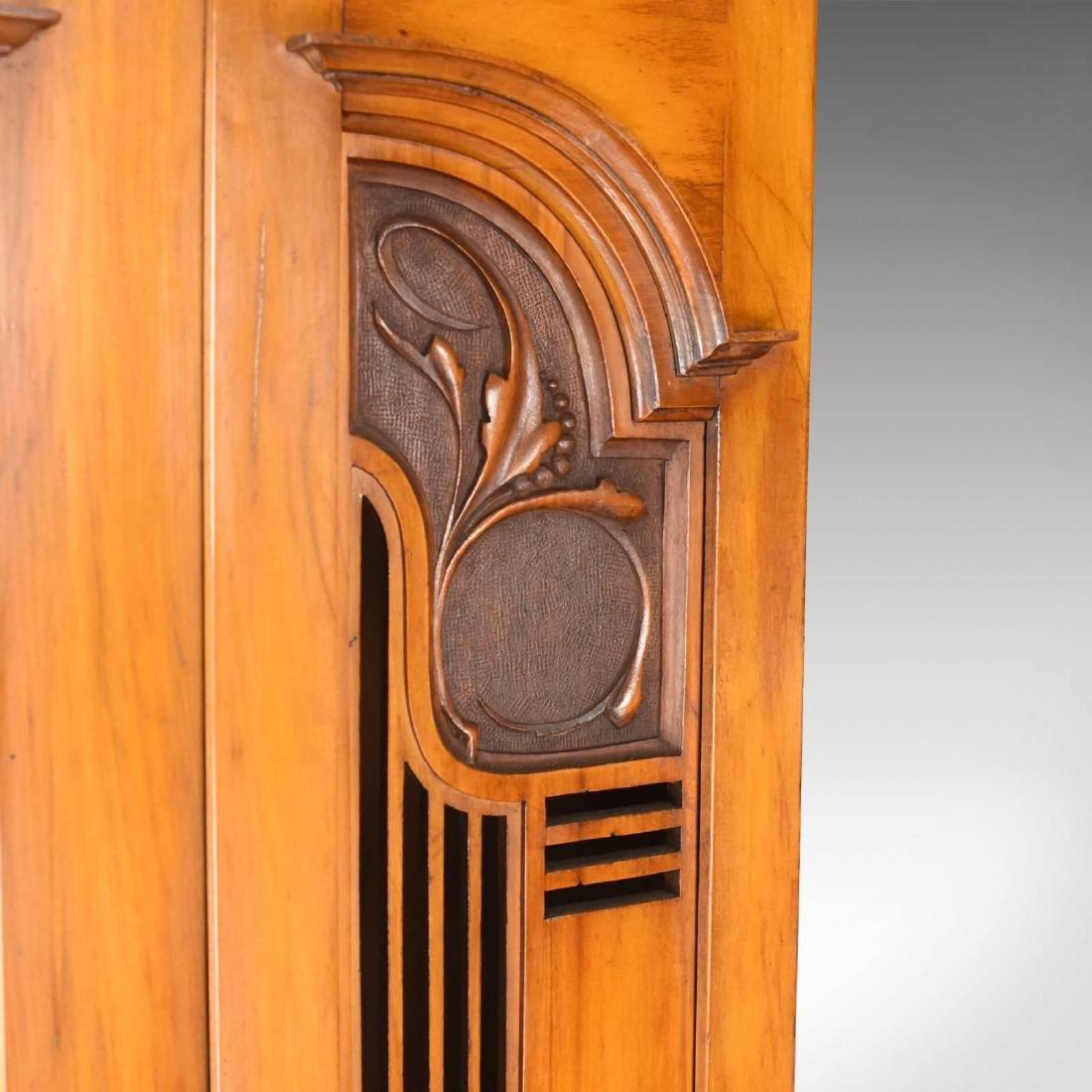 Antique Single Wardrobe, Satinwood, English, Compactum, - 4