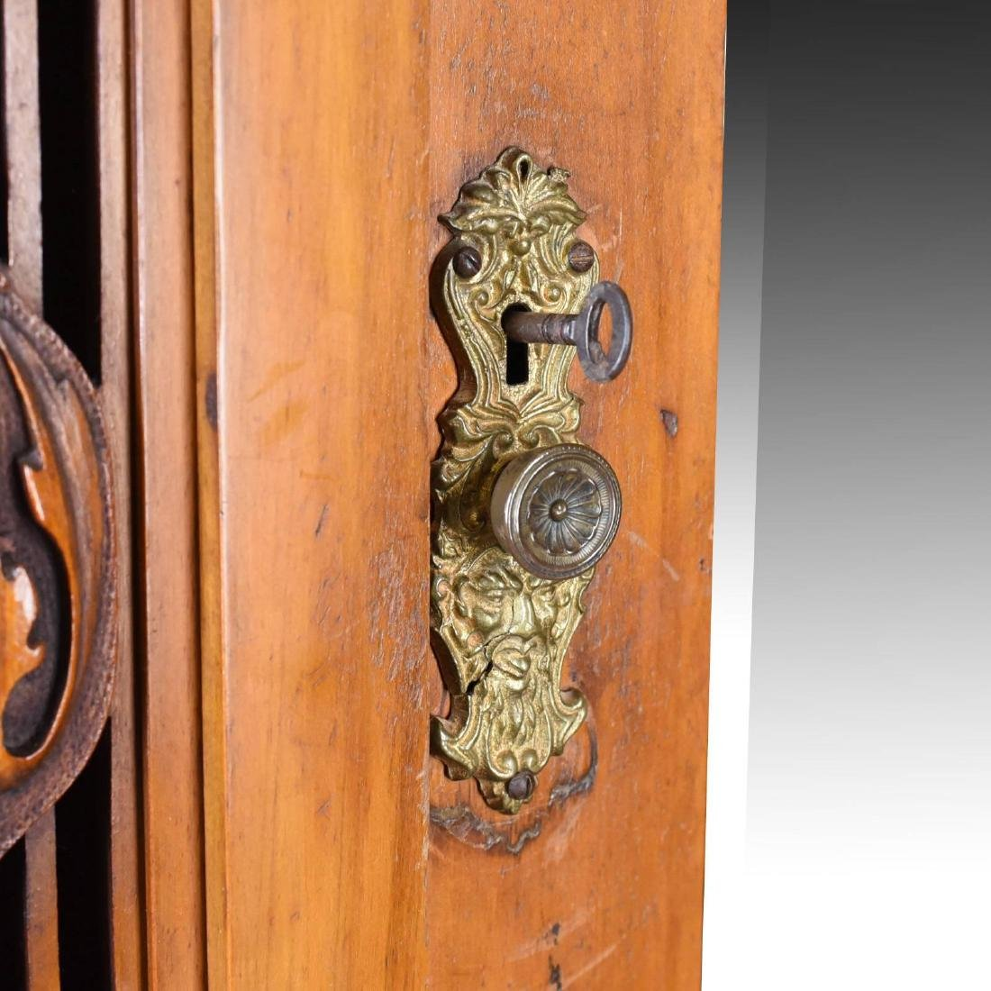 Antique Single Wardrobe, Satinwood, English, Compactum, - 6