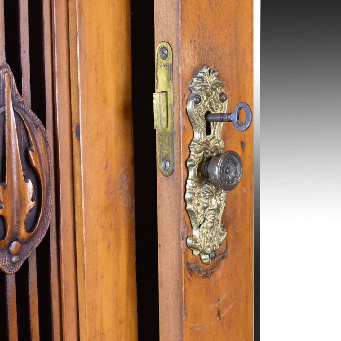 Antique Single Wardrobe, Satinwood, English, Compactum, - 7