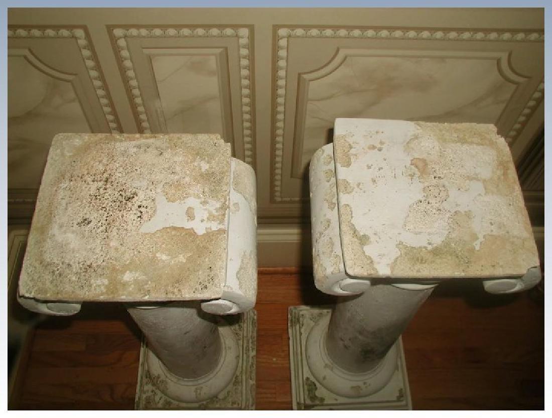 Plaster Columns Table Base Architectural - 5